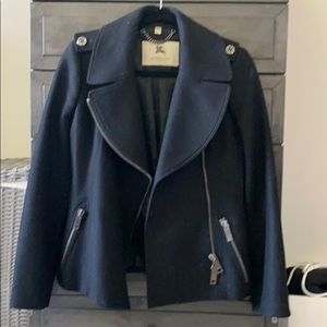 Burberry London Moto Pea Coat Sz UK6/ US4